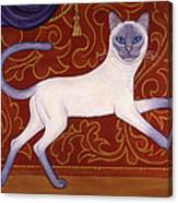 Siamese Cat Runner Canvas Print