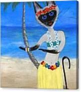 Siamese Queen Of Hawaii Canvas Print