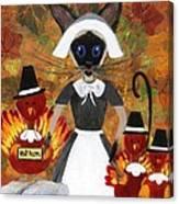 Siamese Queen Of Thanksgiving Canvas Print