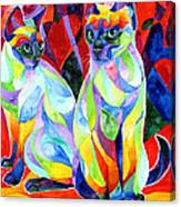 Siamese Sweethearts Canvas Print