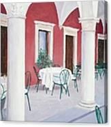Sibenik Cafe Croatia Canvas Print