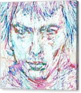 Sid Vicious - Colored Pens Portrait Canvas Print