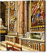 Side Altar In St Peters Basicilca Canvas Print