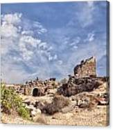 Side Ancient Archaeological Remains Canvas Print