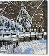 Side Cut Park Winter Wonderland Canvas Print