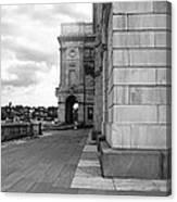 Side Entrance Bw Canvas Print