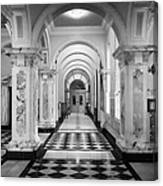 Side Hall Off The Main Entrance Belfast City Hall Built In 1906 County Antrim Northern Ireland Canvas Print