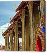 Side Of Royal Temple At Grand Palace Of Thailand In Bangkok Canvas Print