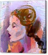 Side View Female In Pastel Shades Canvas Print