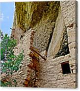 Side Window In Spruce Tree House On Chapin Mesa In Mesa Verde National Park-colorado  Canvas Print