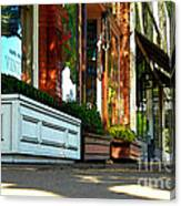 Sidewalk In Saint Helena Canvas Print