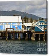 Sidney Harbour Wharf Canvas Print