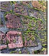 Sidney Island Brick  Canvas Print