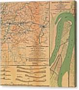 Siege Of Vicksburg 1863 Canvas Print