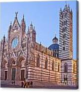 Siena Duomo At Sunset Canvas Print