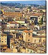 Siena Rooftops Canvas Print