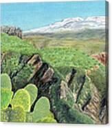 Sierra De Gador Canvas Print