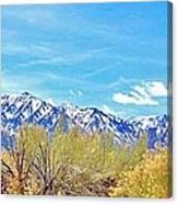 Sierras Peaking Canvas Print