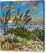 Siesta Beach Sunset Dunes Canvas Print