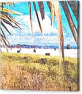 Siesta Key In Fall Canvas Print