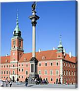 Sigismund's Column And Royal Castle In Warsaw Canvas Print