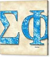 Sigma Phi Society - Parchment Canvas Print
