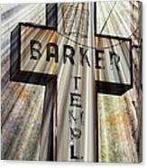 Sign - Barker Temple - Kcmo Canvas Print