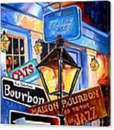 Signs Of Bourbon Street Canvas Print