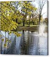 Sigulda Pond Canvas Print