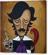 Silence A Poe Caricature Canvas Print