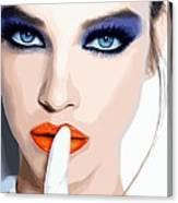 Silence - Pretty Faces Series Canvas Print