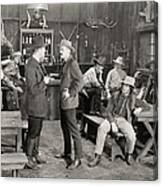 Silent Film Still: Cowboys Canvas Print
