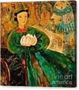 Silent Lotus Canvas Print