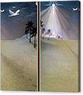 Silent Night - Gently Cross Your Eyes And Focus On The Middle Image Canvas Print