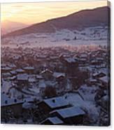 Silent Winter Sunset  Canvas Print