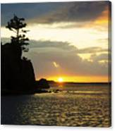 Siletz Bay Sunset Oregon 1 Canvas Print