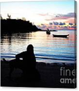 Silhouette At Sunrise Canvas Print