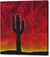 Silhouette Cactus Canvas Print