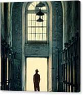 Silhouette In Doorway Canvas Print