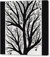 Silhouette Maple Canvas Print