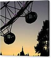 Silhouette Of London Eye Canvas Print