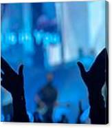 Silhouette Of Raised Hands  Canvas Print