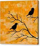 Silhouette Orange Canvas Print