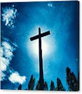 Silhouetted Cross Canvas Print