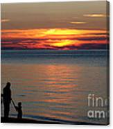 Silhouetted In Sunset At Sturgeon Point Marina Canvas Print