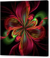 Silk Butterfly Abstract Canvas Print