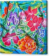 Silk Summer Bouquet Canvas Print