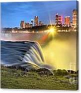Silky Niagara Falls Panoramic Sunset Canvas Print