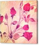 Silky Red Roses Canvas Print