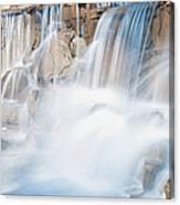 Silky Waterfall Splash Canvas Print
